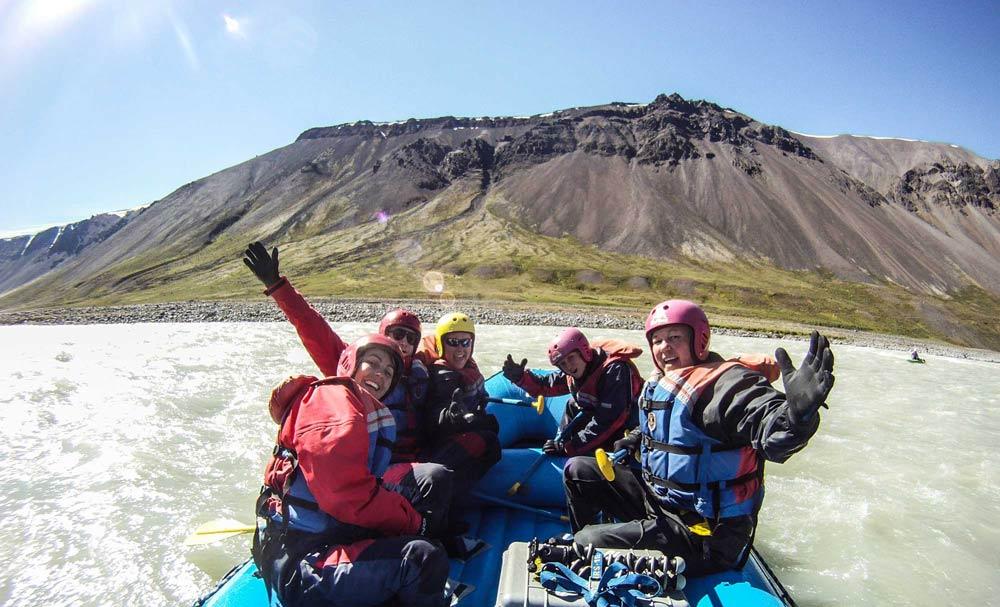river rafting selfie