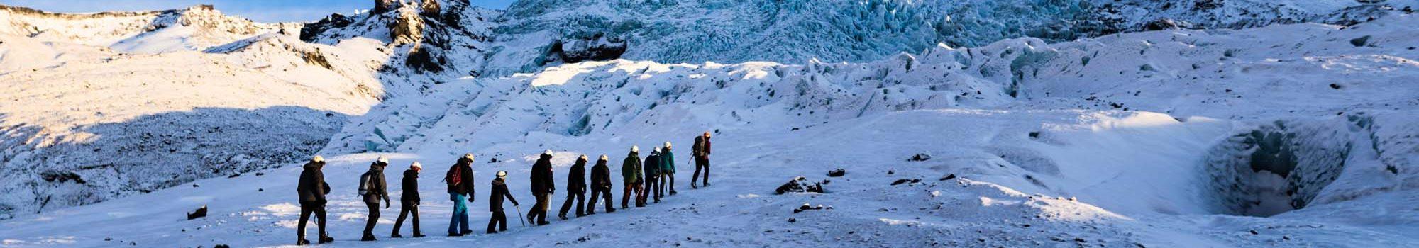 Glacier hiking on Falljokull glacier