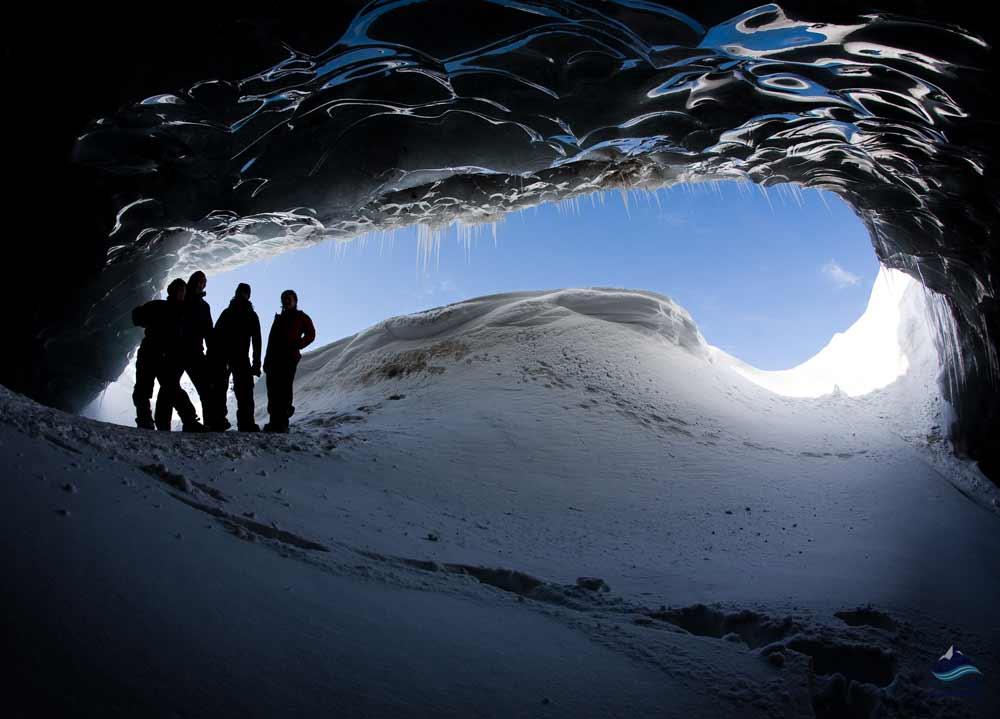 Ice caves Langjokull glacier