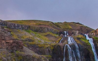 View from Glymur hiking trail Iceland