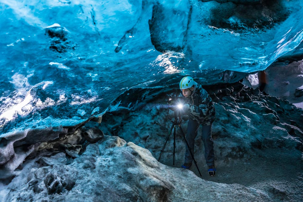 Photographing the Crystal Cave