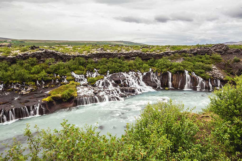 Hraunfossar waterfalls West Iceland