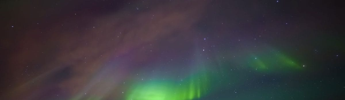 Purple-and-green-northern-lights-Iceland