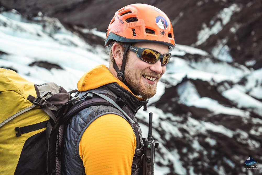 hiking on solheimajokull