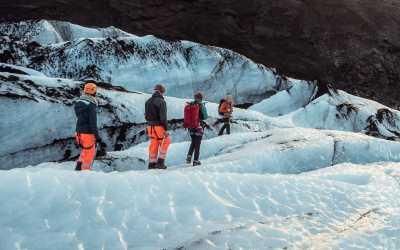 Glacier hiking on Solheimajokull