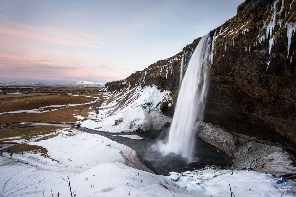 Seljalandsfoss-Waterfall-South-Coast-winter-Iceland