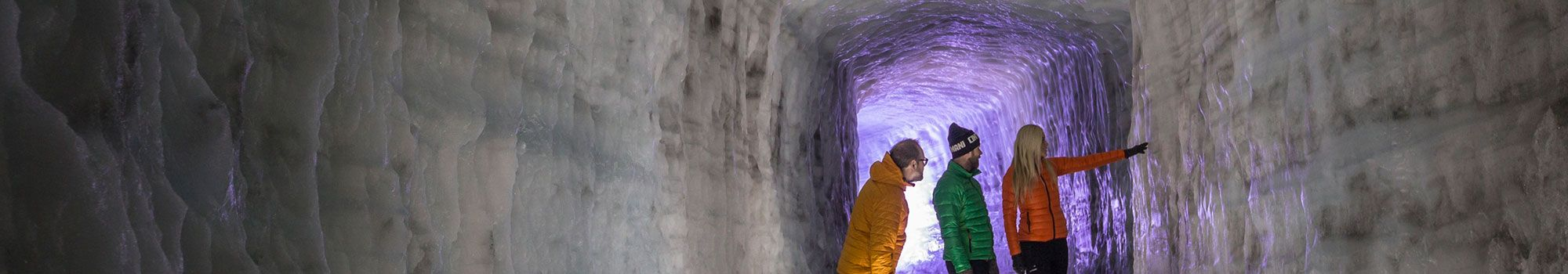 Man-made Ice Tunnel in Langjökull Glacier