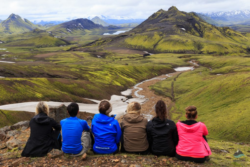 The view in Landmannalaugar
