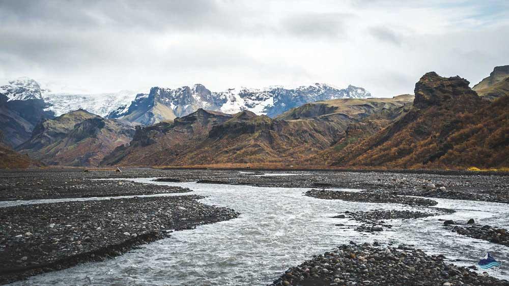 River in Thorsmork in Iceland