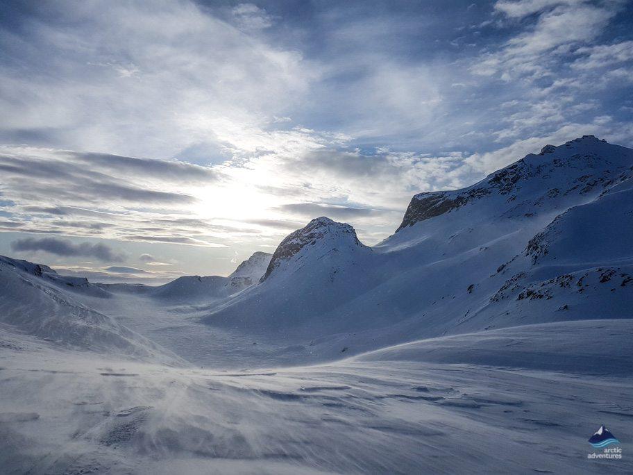 Langjokull glacier views