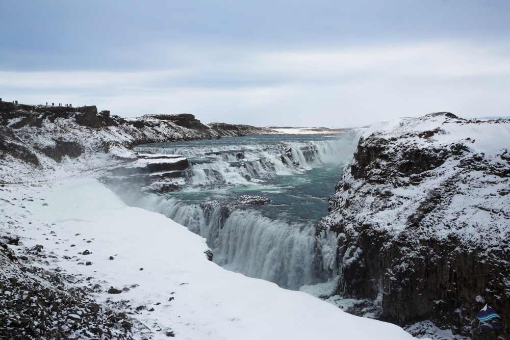 Gullfoss waterfall in the Golden Circle route