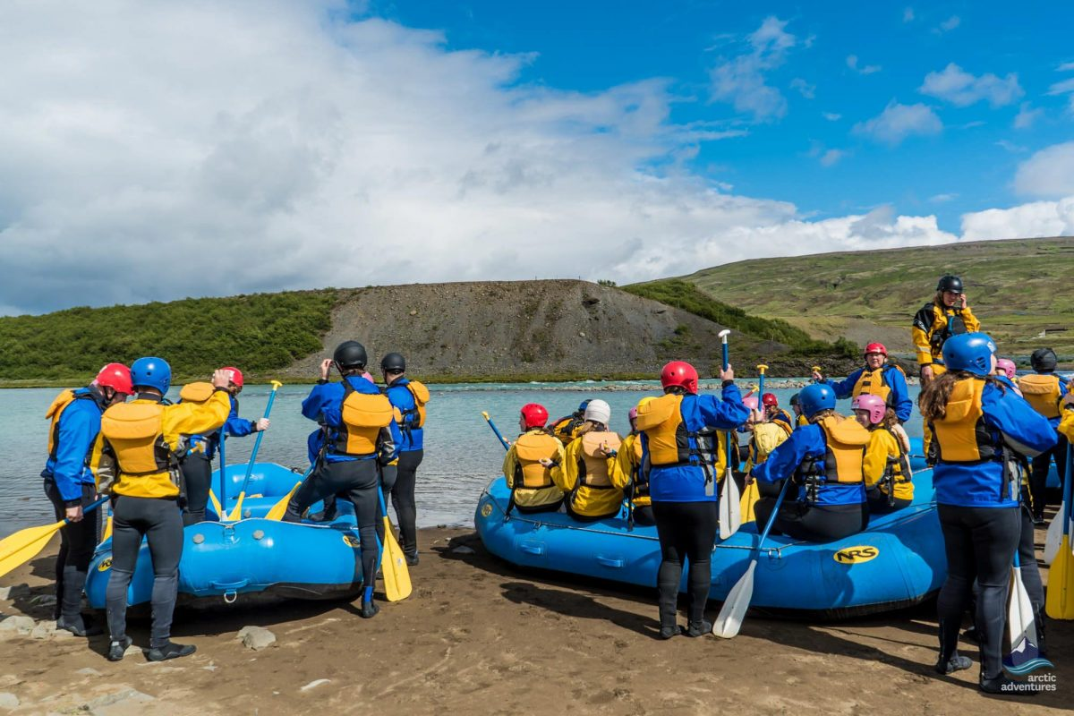 getting ready for river rafting in South Iceland