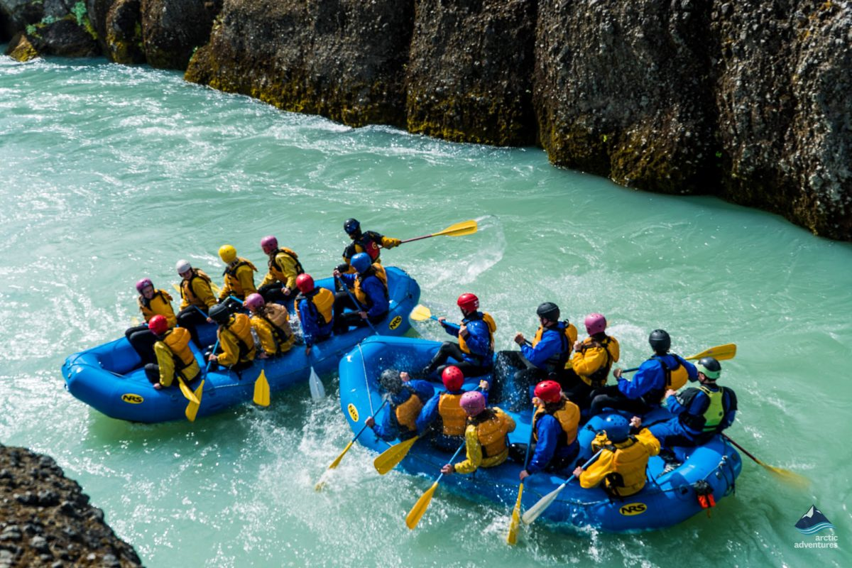 River rafting in Gullfoss Canyon Iceland