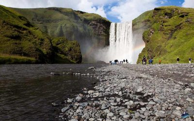 Skogafoss Waterfall South Coast Iceland