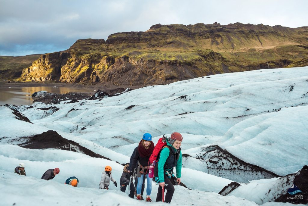 Solheimajokull glacier hiking tour in Iceland