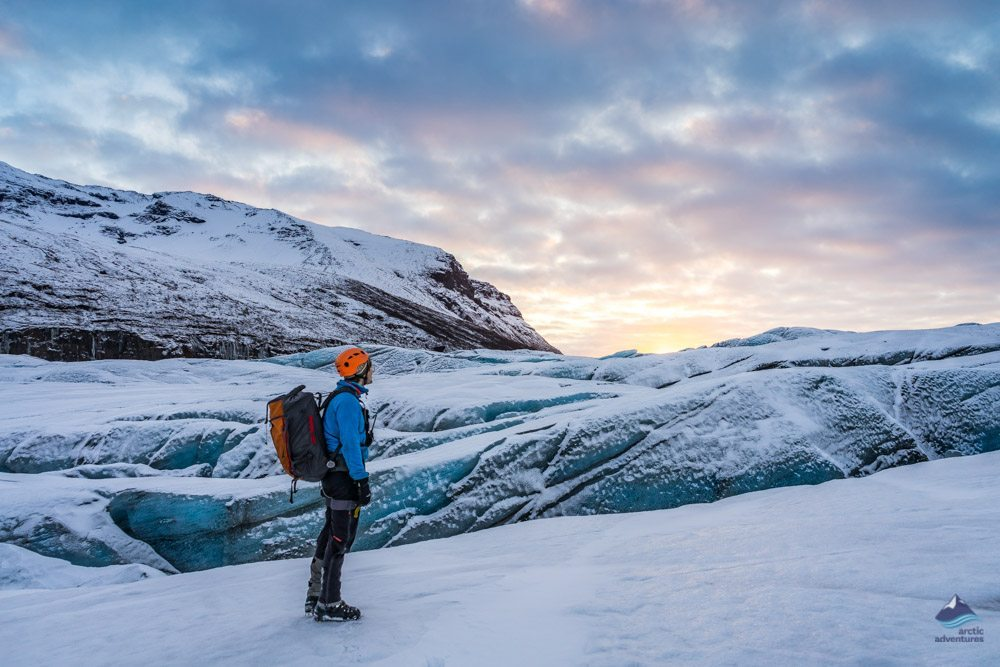 Glacier hiking on Svinafellsjokull