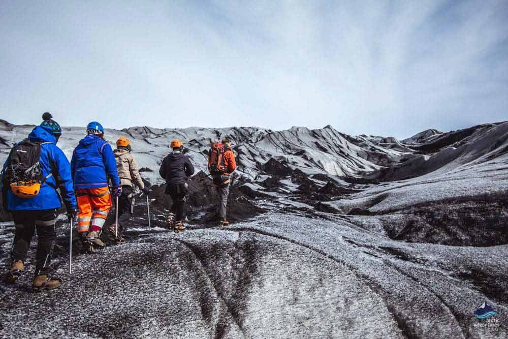 Glacier hiking on Solheimajokull Iceland