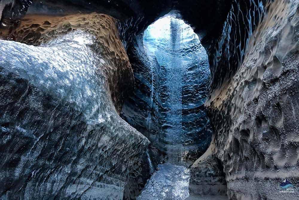 Myrdalsjokull glacier ice cave
