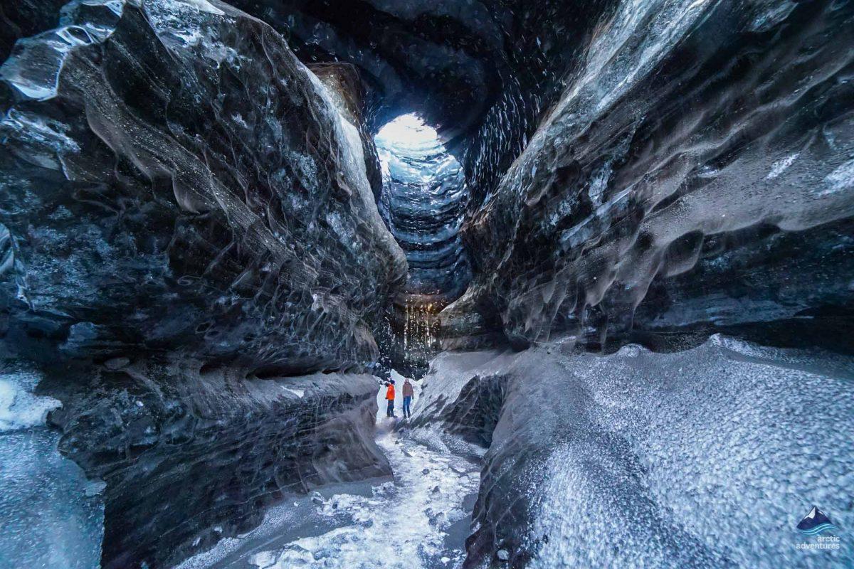 Katla Ice Cave under the volcano