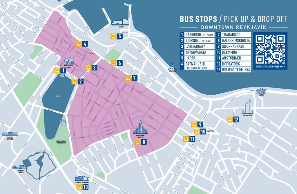 Flybus Airport Transfer - Bushaltestellen