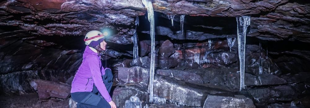 Exploring Caves in Iceland