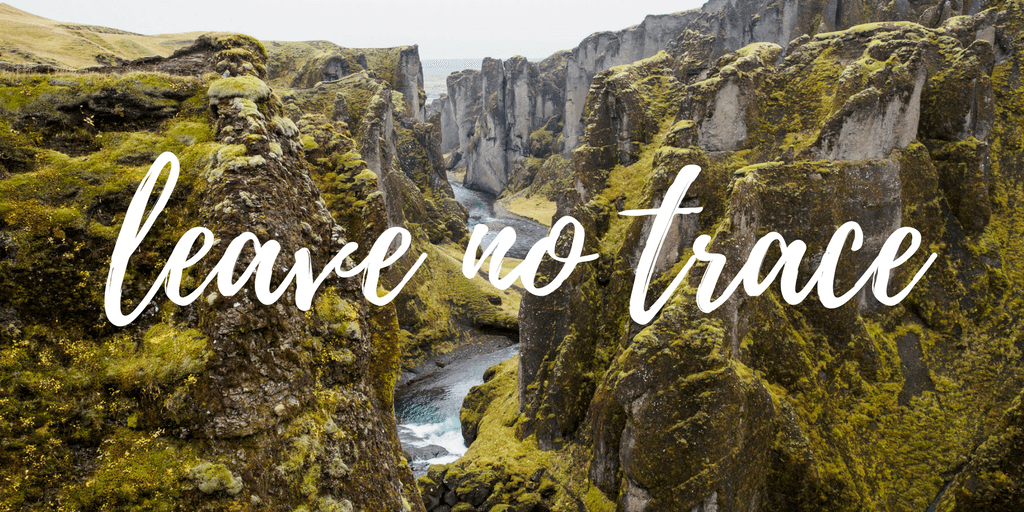 Leave no trace Iceland