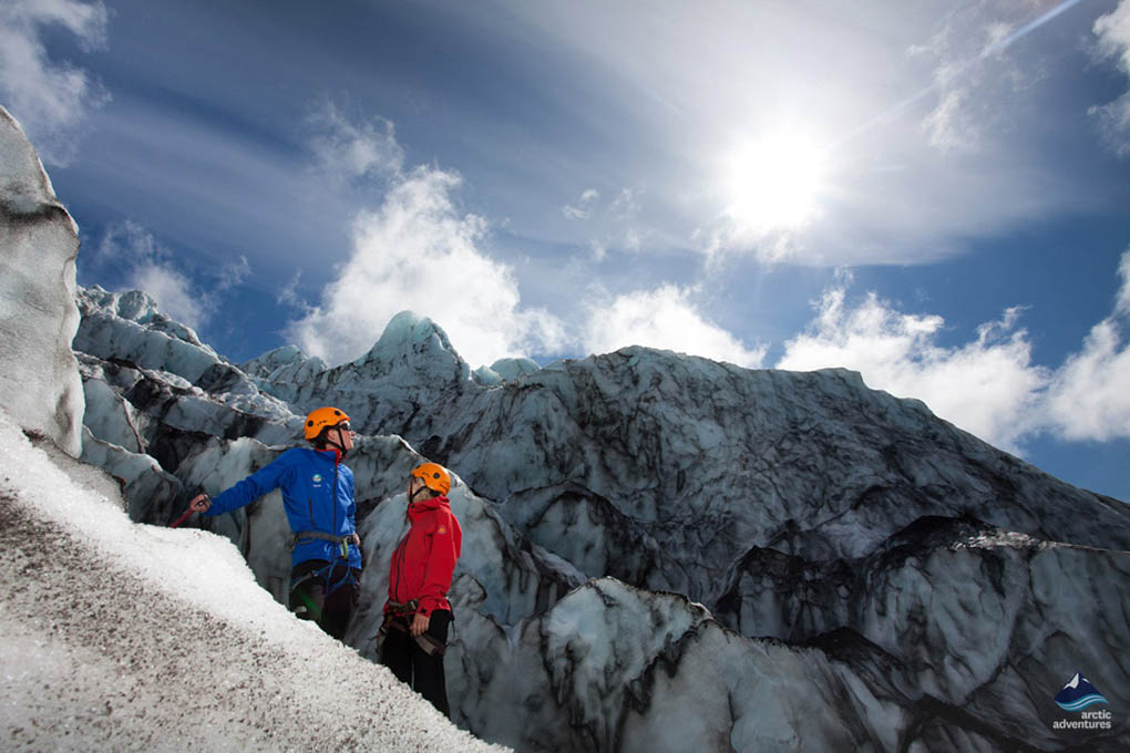 Vatnajokull glacier hiking Iceland