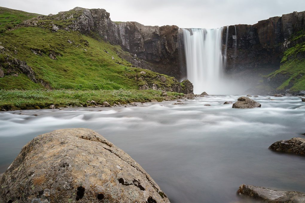 Waterfall in the Eastfjords