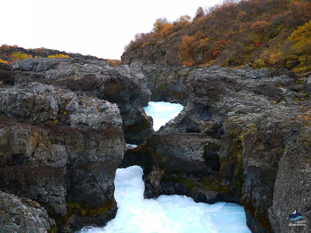 Barnafoss waterfalls