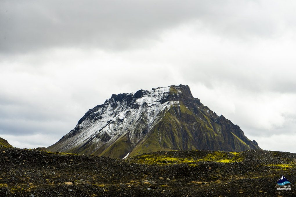 Mountains surrounding Katla Ice Cave