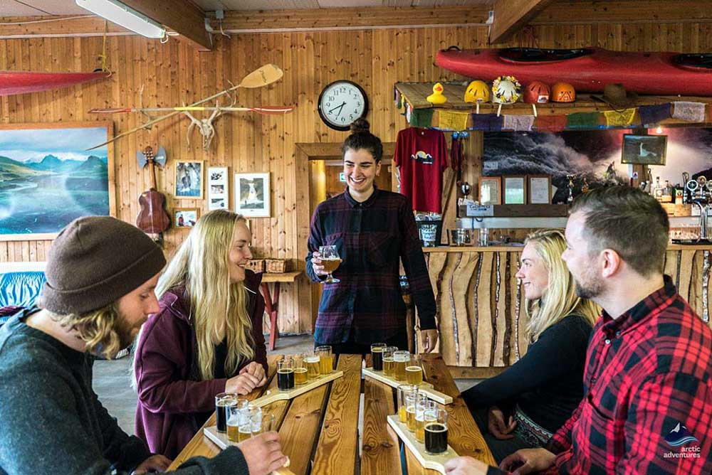 Guide explaining Icelandic beer