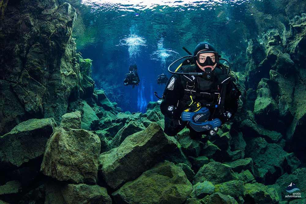 Diving at Silfra