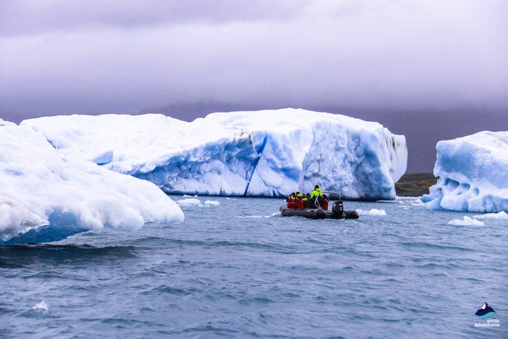 Jokulsarlon Glacier Lagoon Iceland Zodiac Boat Tour