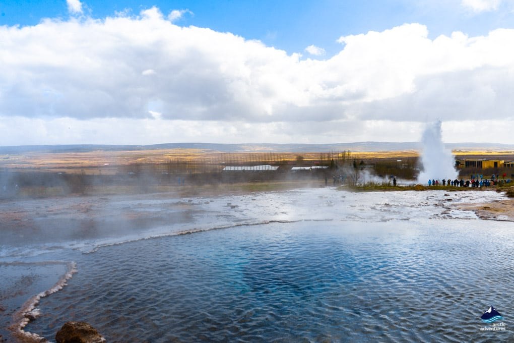 geysir hot springs in haukadalur