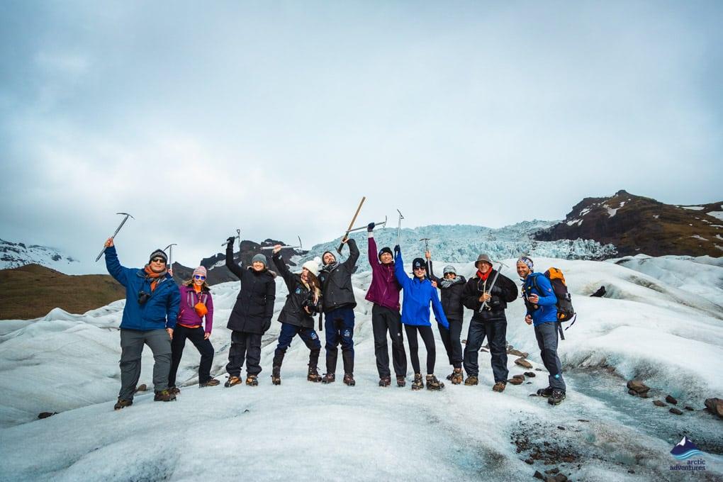 Gletscherwandergruppe Island