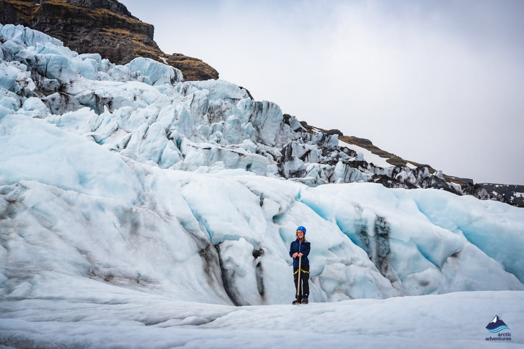 Glacier hiking tour on Vatnajokull Glacier
