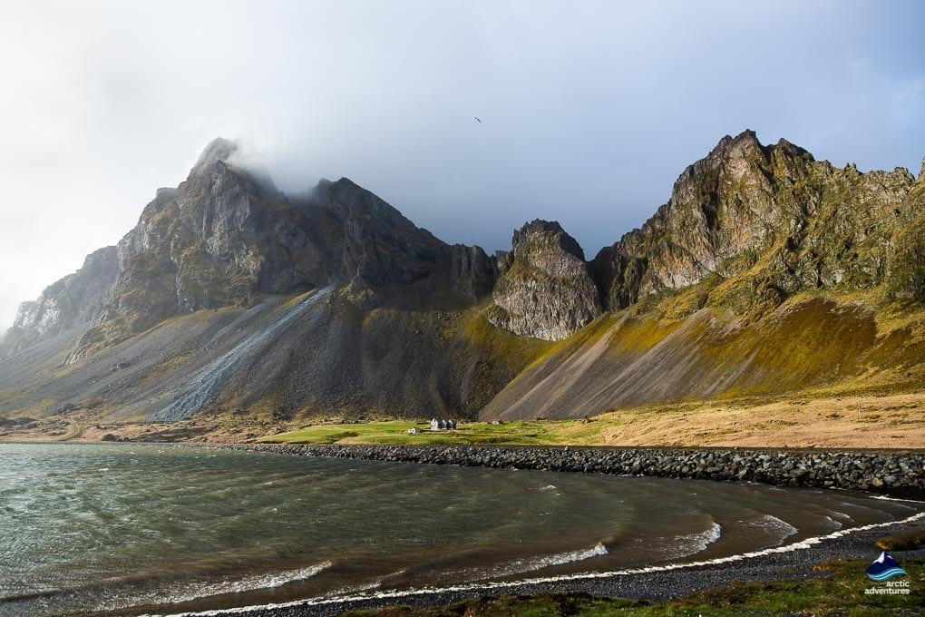 Mountains in the East Fjords in Iceland