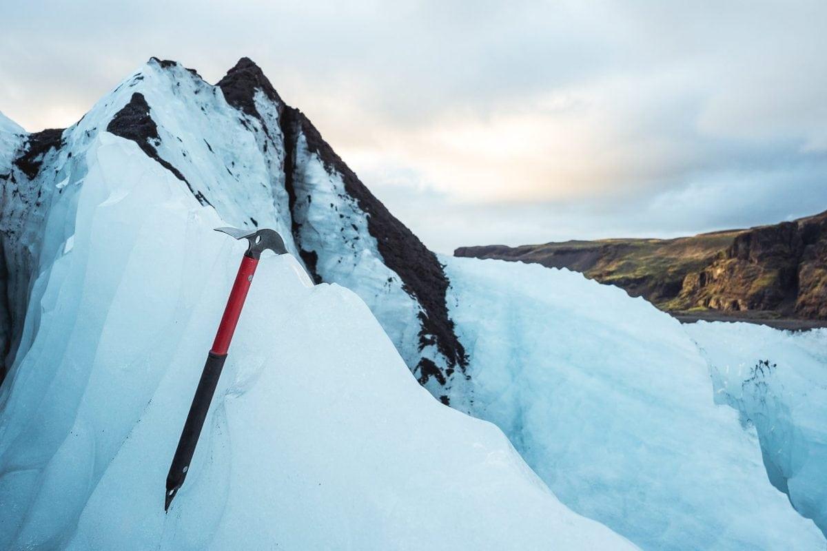 solheimajokull icelandic glacier