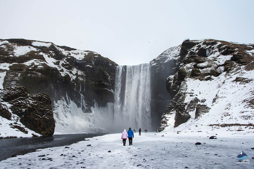 Skogafoss in Winter in Iceland
