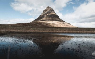 Mt. Kirkjufell reflected in water