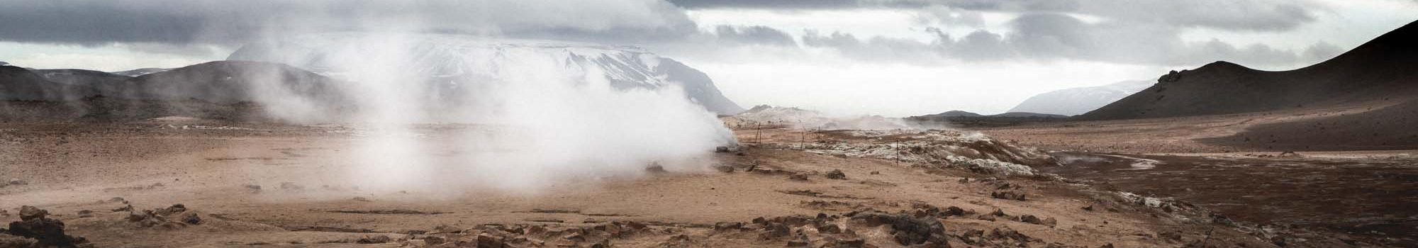 Smoke at namaskard geothermal area