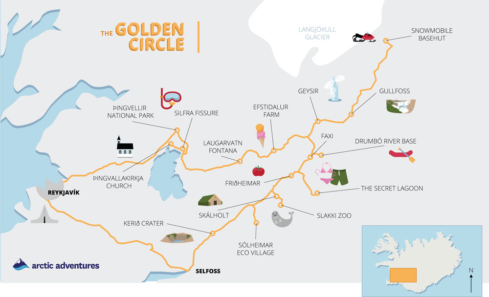 map of the golden circle