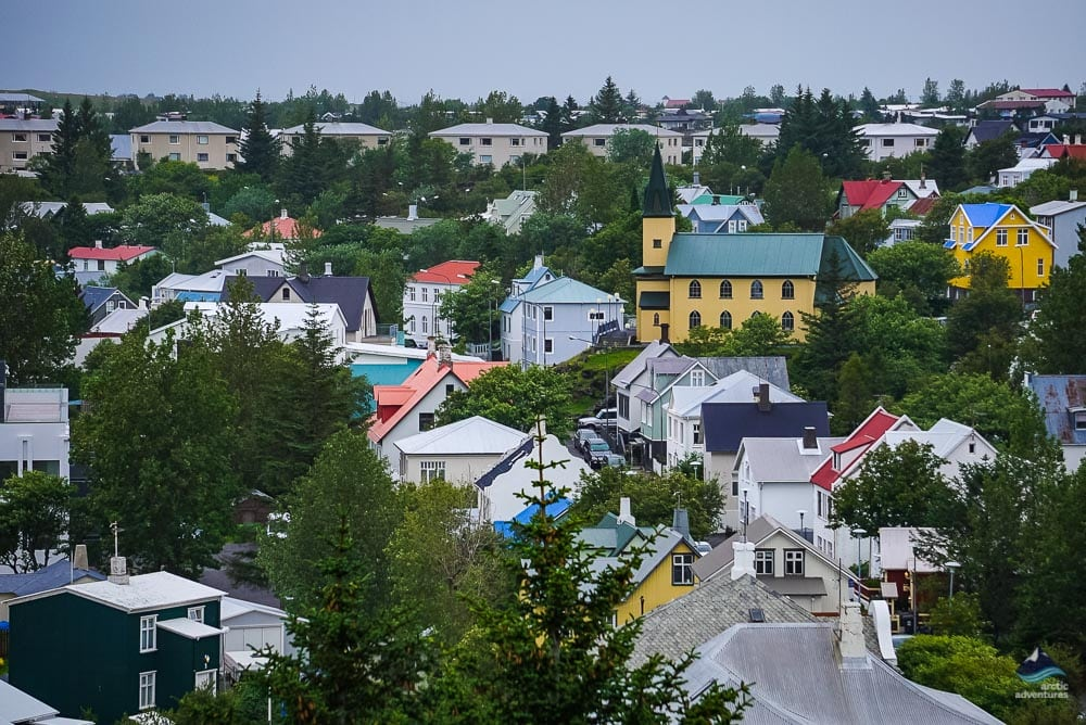 Colorful houses in Hafnarfjordur