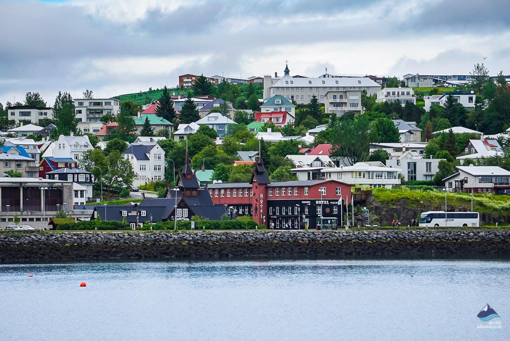 Hafnarfjordur Village in Iceland