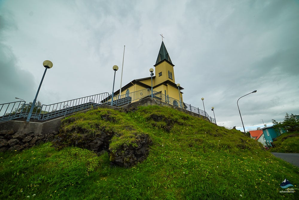 Church in Hafnarfjordur Iceland