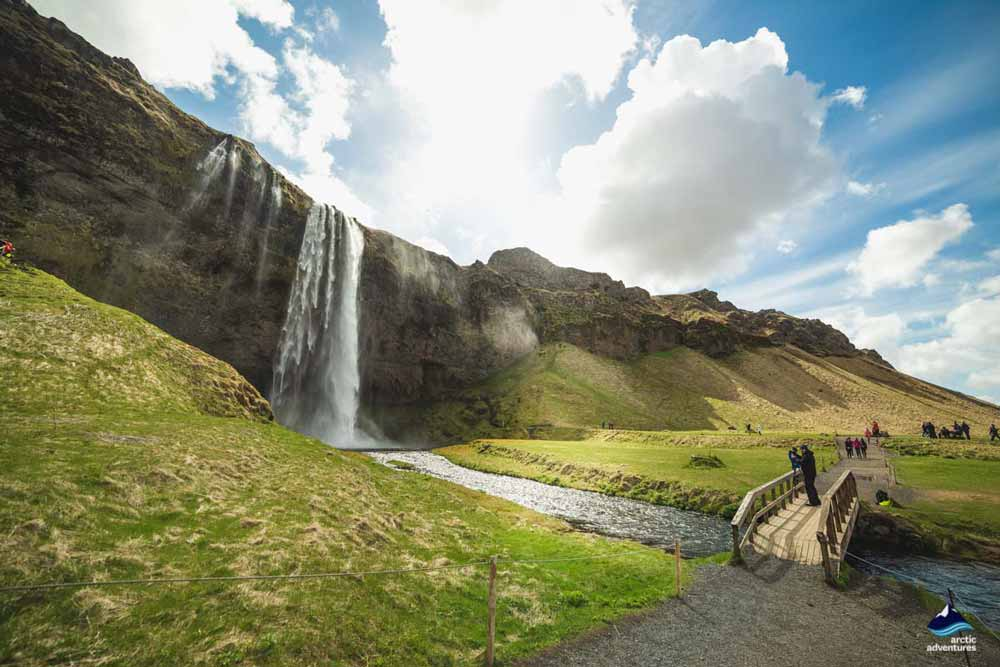 Seljalandsfoss seen from a far