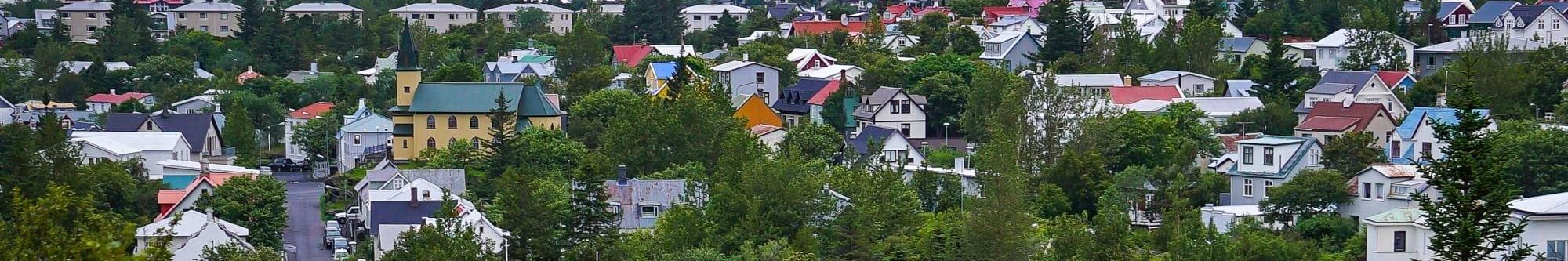 Hafnarfjordur Town in Iceland