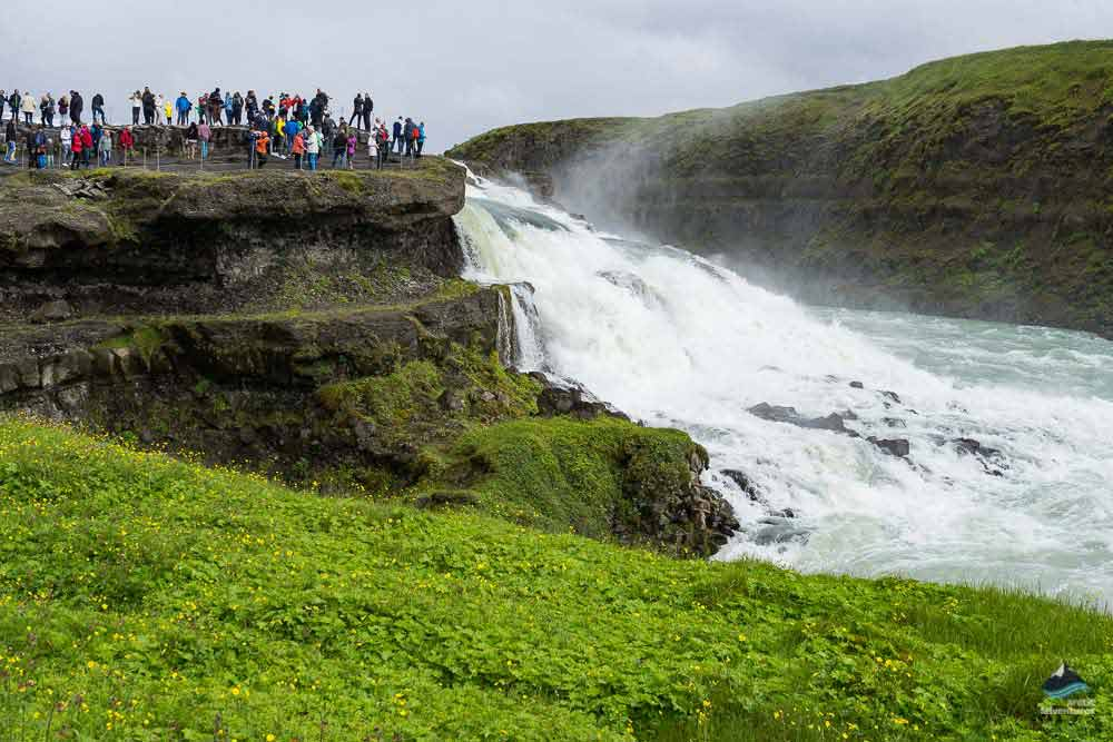 gullfoss waterfall on the golden circle tour in iceland