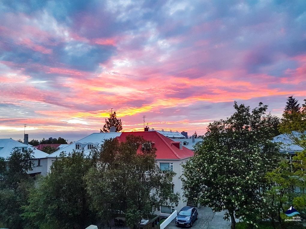 Midnight Sun in Reykjavik