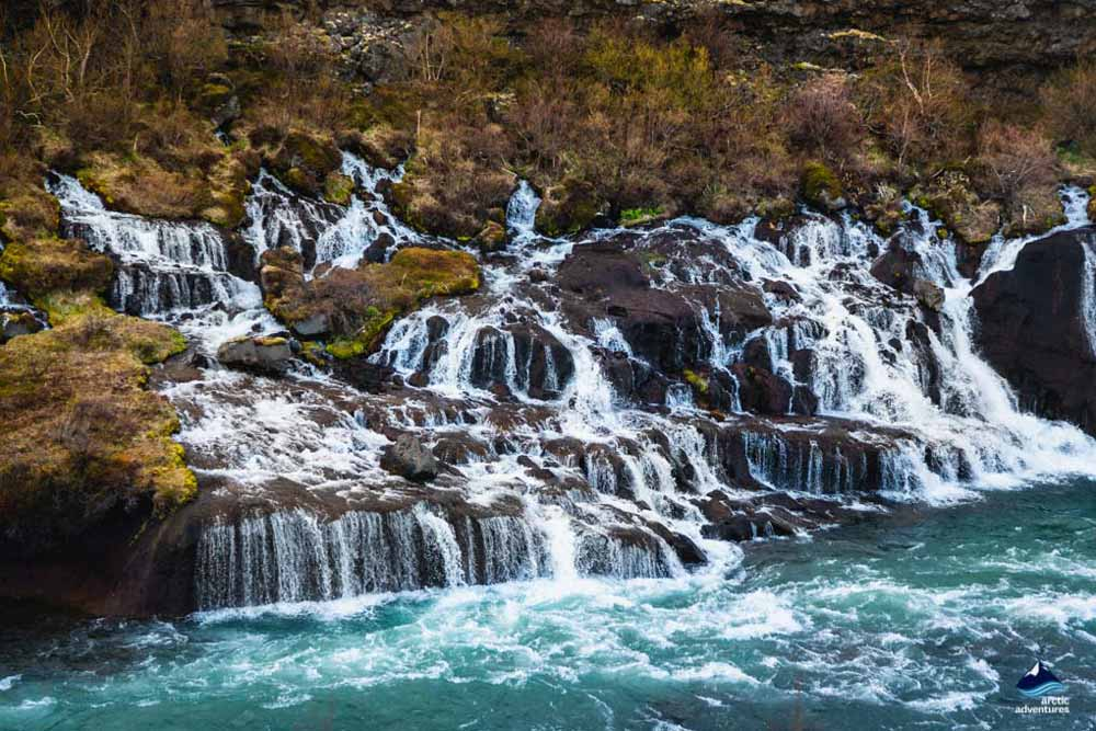 Hraunfossar waterfalls